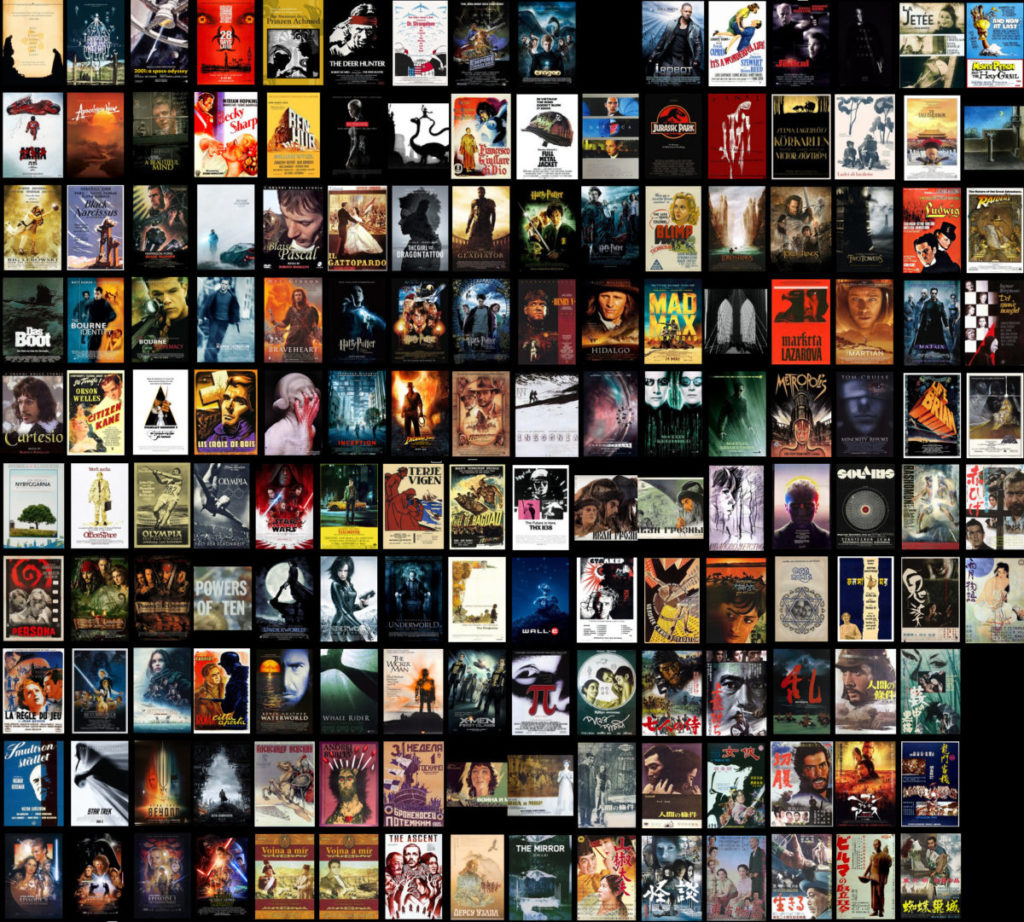 Collage of movies I've seen. Link to movies/films page